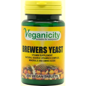 Veganicity Brewers Yeast 300mg 200 Vtabs  nature's vitamin B storehouse!
