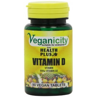 Veganicity Vitamin D 800iu 90 Vtabs  needed for a multitude of body processe