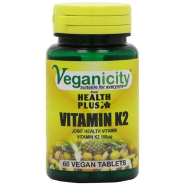 Veganicity Vitamin K2 100ug 60 Vtabs  to help with the proper bone formation