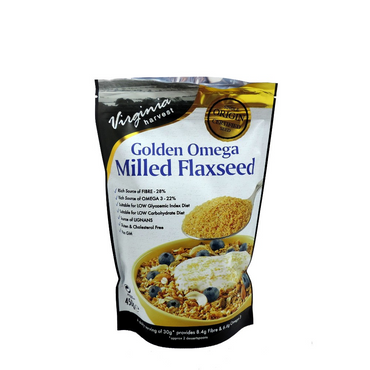 Virginia Harvest VH Golden Omega Milled Flaxseed - 450 grm