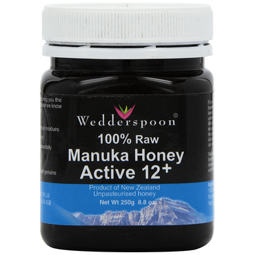 Wedderspoon 100% RAW Manuka Honey KFactor 12 250g