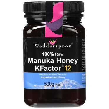 Wedderspoon 100% RAW Manuka Honey KFactor 12 500g