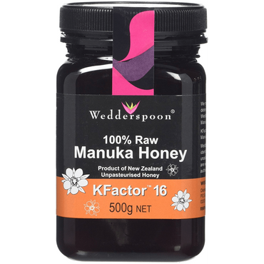 Wedderspoon 100% RAW Manuka Honey KFactor 16 500g