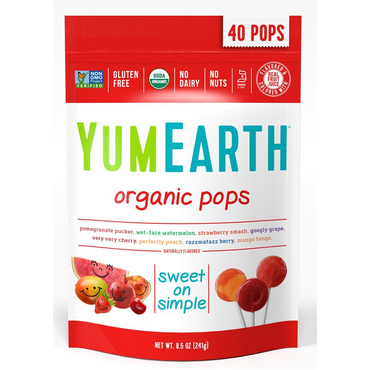Yum Earth YumEarth Organic Pops 40 Lolly Bag