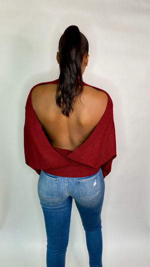 Barely There Open Back Sweater