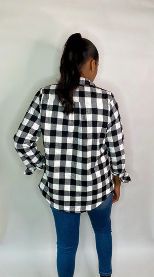 Perfectly Plaid Fleece Top