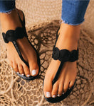All Day Long Black Sandal