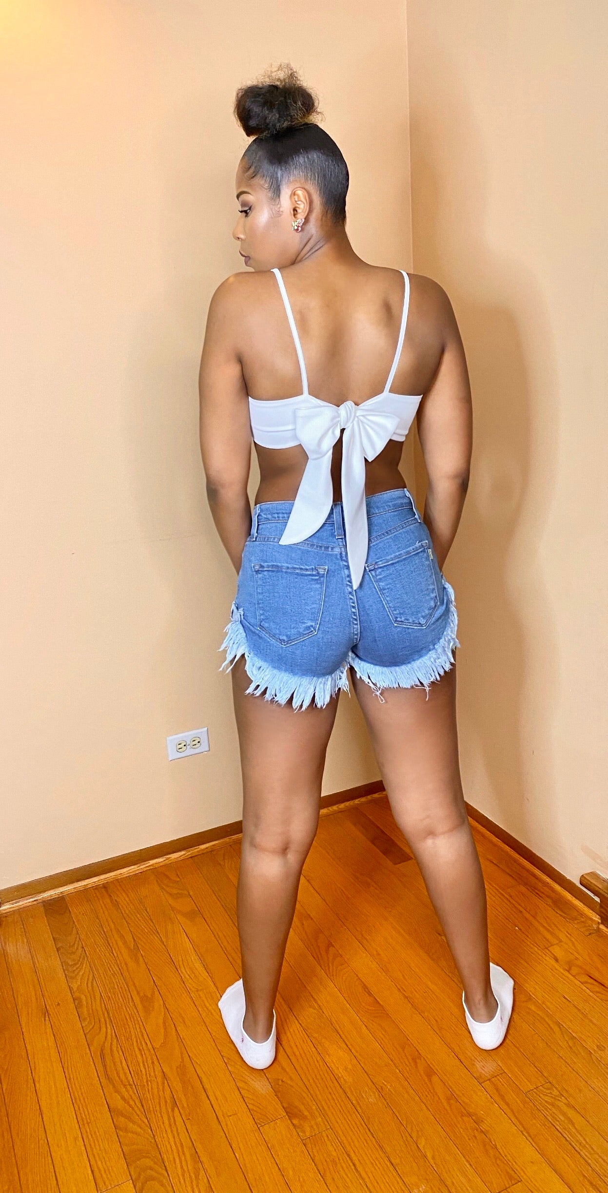 Show A Little Skin Denim Shorts