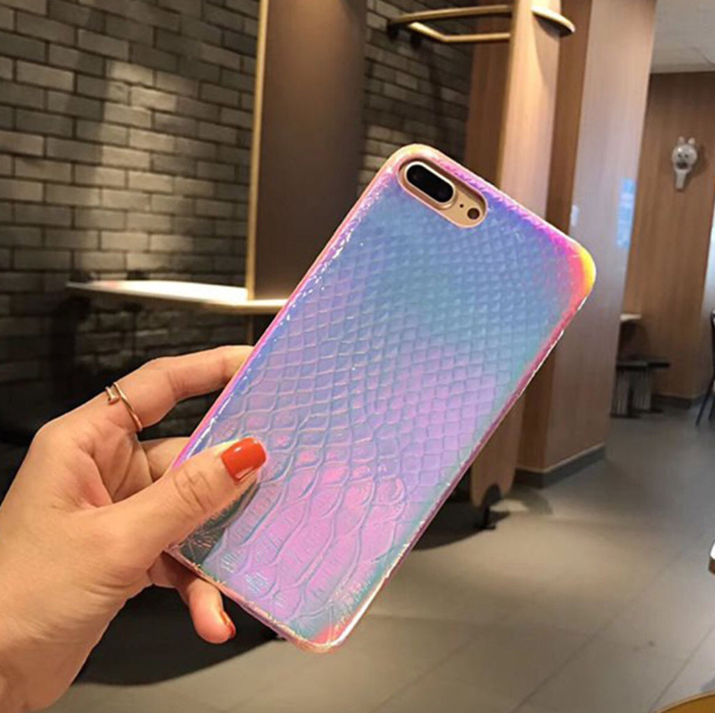 Rainbow Snakeskin iPhone Case