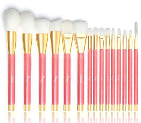 Qivange Makeup Brush Set, 15 PCS Cosmetic Brushes with Box