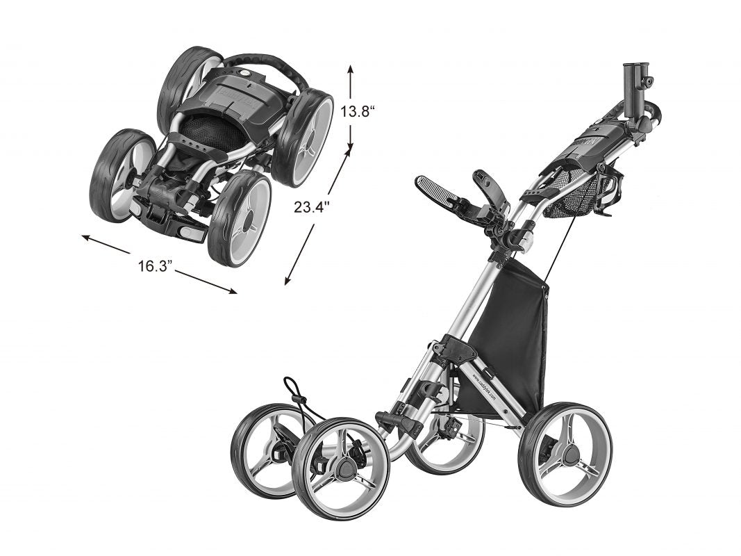 CaddyTek The Explorer Version 8 Push Cart - Golf Caddy Pros