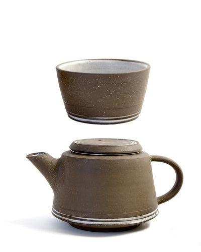 Custom Hand Thrown Ceramic Tea Pot and Cup