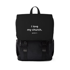 I Love My Church Backpack