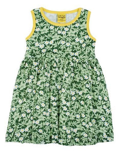 DUNS SWEDEN Wood Anemone Green Sleeveless Dress w Gathered Skirt