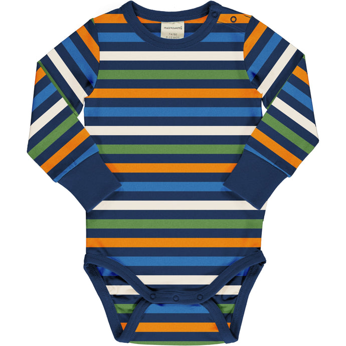 MAXOMORRA Body LS Stripe STRIPE NAVY