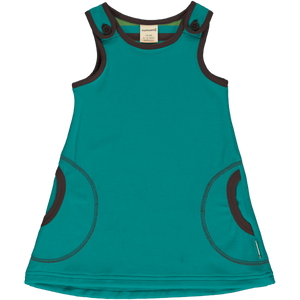 MAXOMORRA Dress Velour LAGOON