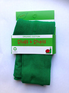 SLUGS AND SNAILS Emerald Green Tights