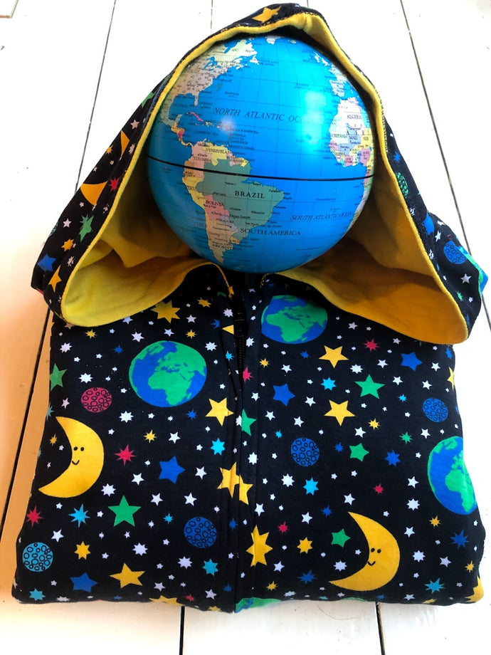 DUNS SWEDEN Lined Suit with Hood Mother Earth Black