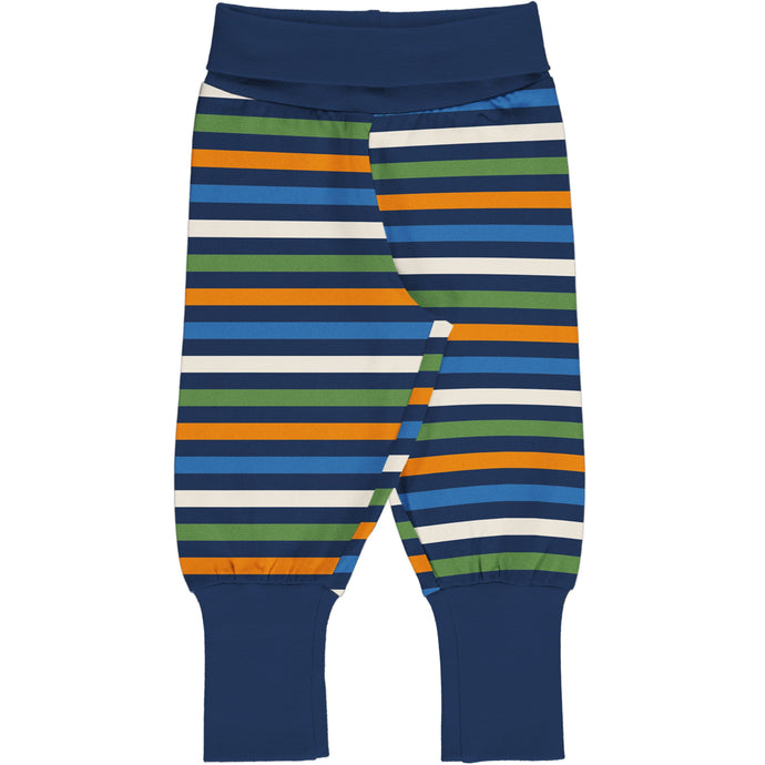 MAXOMORRA Pants Rib Stripe STRIPE NAVY
