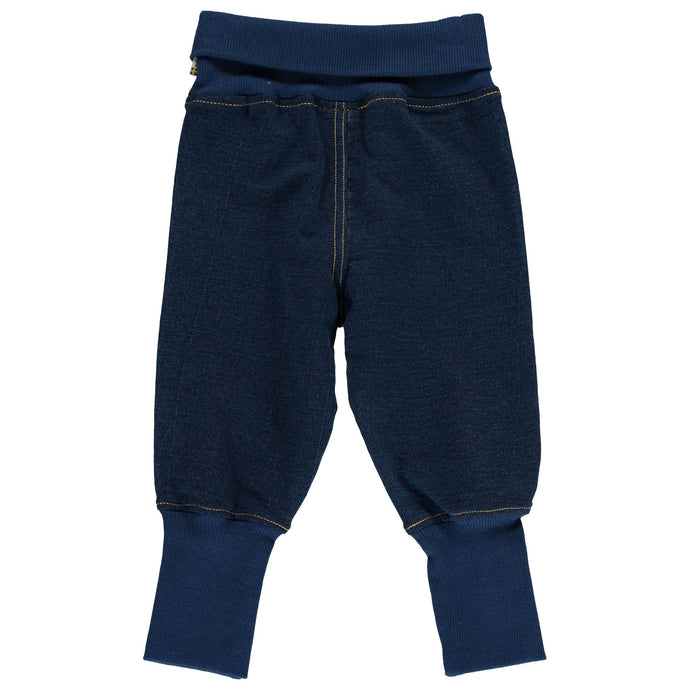MAXOMORRA Pants Rib Sweat Solid SOLID INDIGO