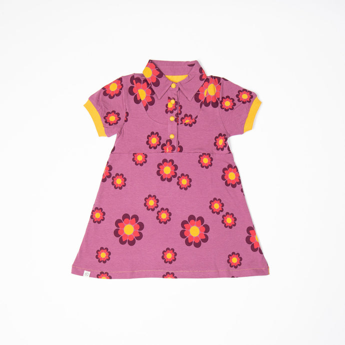 Alba of Denmark JULIE DRESS - BORDEAUX FLOWER POWER LOVE