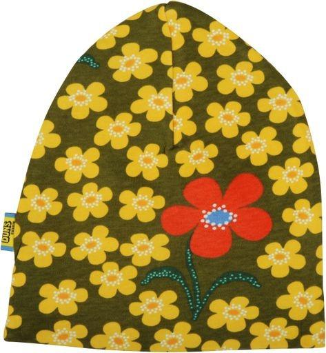 DUNS SWEDEN Flower Olive Double Layer Hat