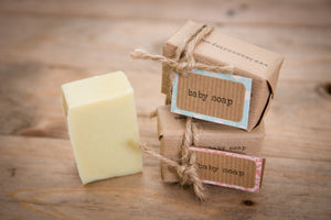 BEAN & BOY Top to Toe Baby Soap: Certified Natural Vegan Handmade Soap (Cold Process) | Fragrance Free Soap | All Natural Soap | Gentle Soap | Shampoo