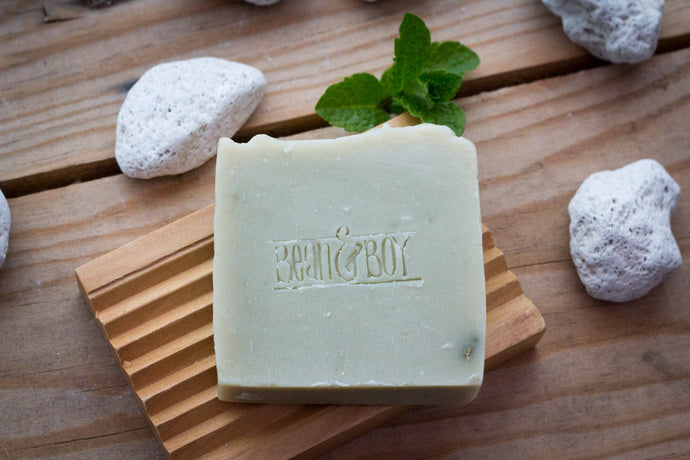 BEAN & BOY Pumice & Patchouli Soap - Certified 100% Natural Pure Vegan Handmade Soap (Cold Process)