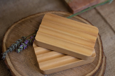 BEAN & BOY Wooden Soap Dish | Sustainable Hemu Wood | Draining and Eco-Friendly | Wide Grooves