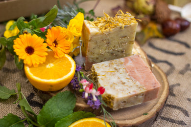 BEAN & BOY Wildflowers & Oats Soap | Safety Assessed and Certified 100% Natural Vegan Handmade Soap (Cold Process) | Designed for Sensitive Skin