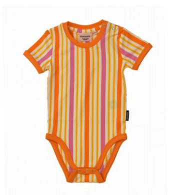MOROMINI Bodysuit Orange Stripes