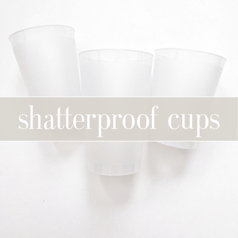 shatterproof frosted flex cups