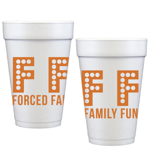 styrofoam cups | forced family fun