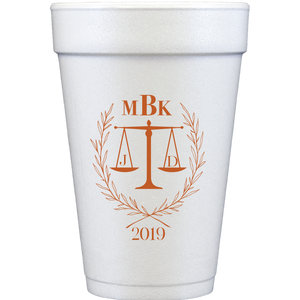 styrofoam cups |  law graduation