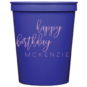 stadium cups | happy birthday