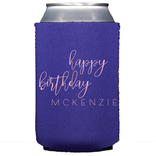 koozie | happy birthday