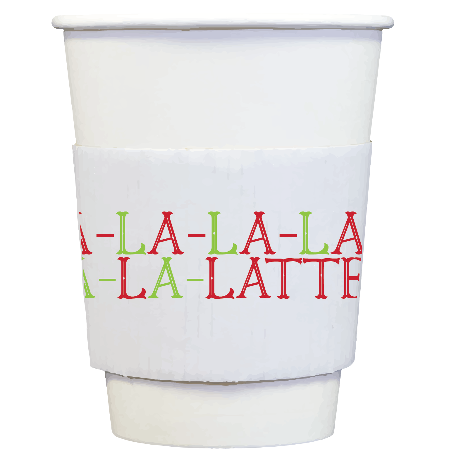 coffee cups + sleeves |fa la latte