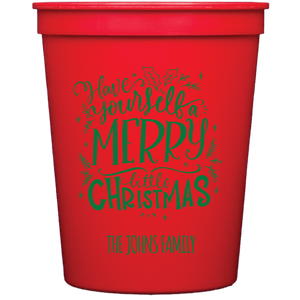 stadium cups | merry little christmas