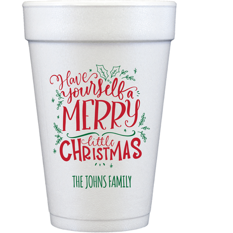 styrofoam cups | merry little christmas