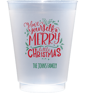 shatterproof frosted flex | merry little christmas