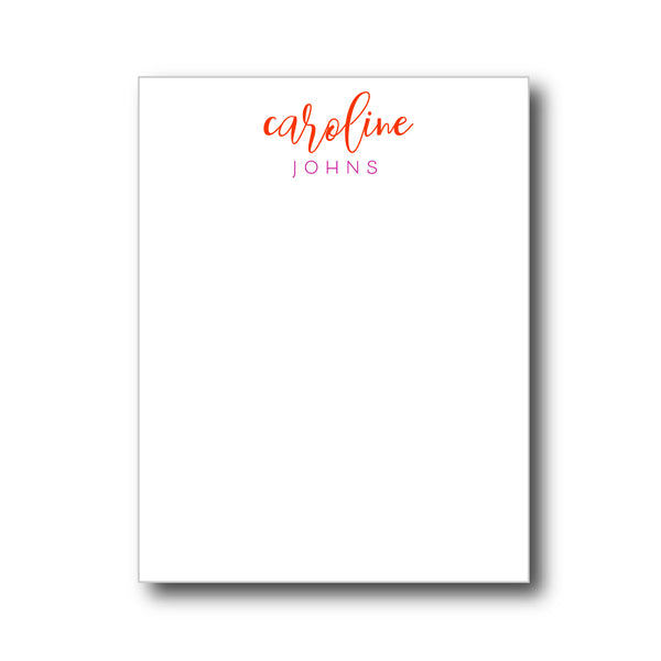 notepad | white paper | 18