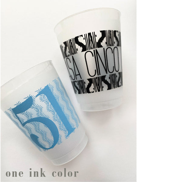 *shatterproof frosted flex +  custom design | one or two color ink print