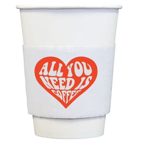 coffee cups + sleeves | all you need is coffee