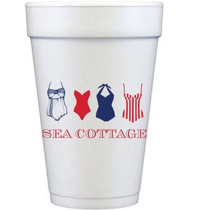 styrofoam cups | bathing suits