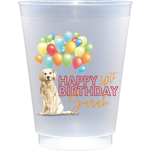 shatterproof frosted flex | birthday pup