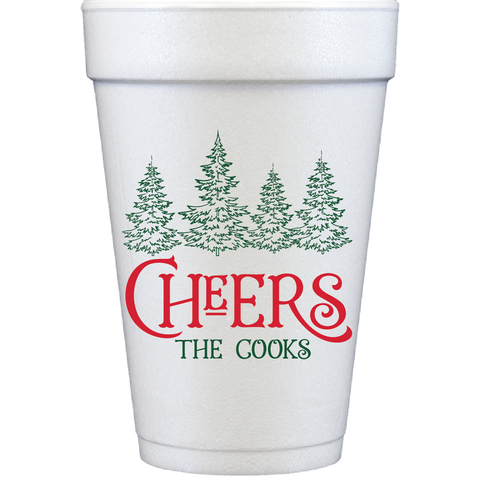 styrofoam cups | christmas tree cheers