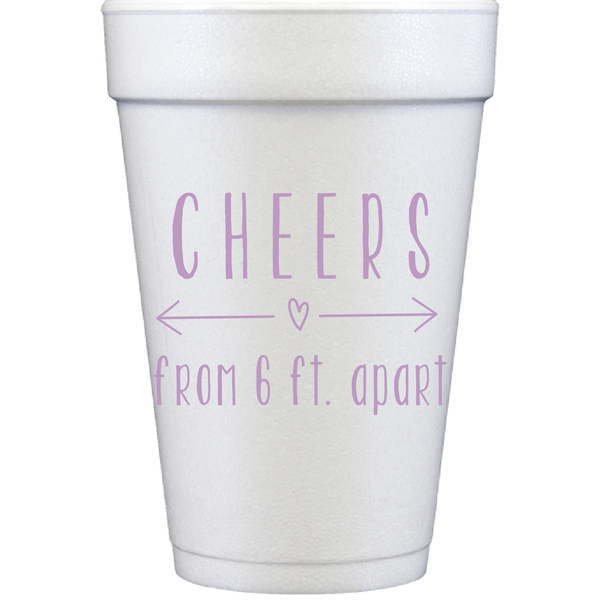 styrofoam cups | cheers from 6 ft.