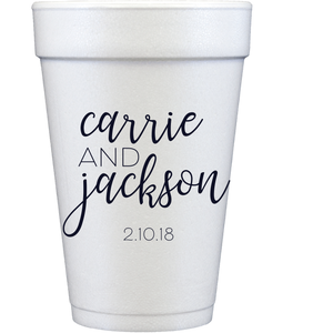 styrofoam cups | couple