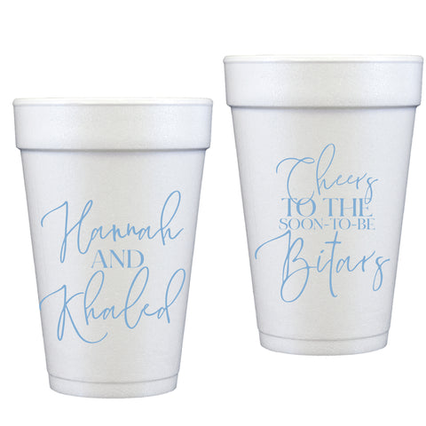 styrofoam cups | engagement cheers