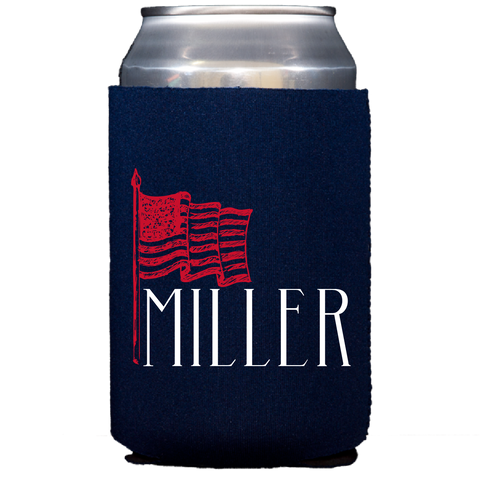 koozie | sketched flag